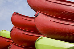 Série de canoë Photographie stock
