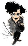 Série de caricature : C.Chaplin Photos stock