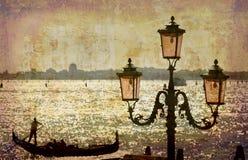 série de cartes postales de l'Italie Images libres de droits