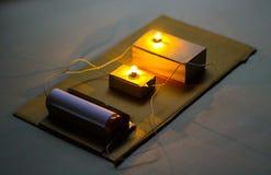 Série de circuits électriques Photos libres de droits