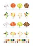 Série de conception d'arbre Illustration Libre de Droits