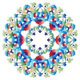 Série de conception de motifs de tabouret avec la version cinq illustration de vecteur