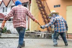 Série de construction de routes de ciment images libres de droits