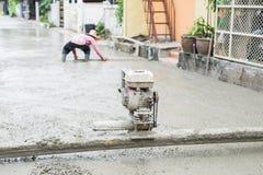Série de construction de routes de ciment photos stock