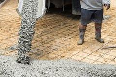Série de construction de routes de ciment photos libres de droits