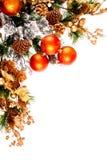 Série de décoration de coin d'ornement de Noël photos stock