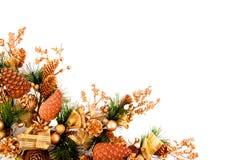 Série de décoration de coin d'ornement de Noël photographie stock