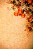 Série de décoration de Noël de cru Photo stock