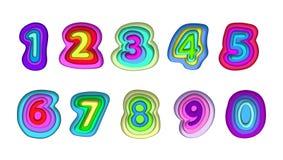 Série de Digital se composant des pièces multicolores illustration libre de droits