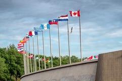 Série de drapeaux Photos stock