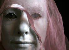 Série de femme blanc - oubliée Photographie stock libre de droits