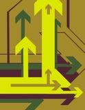 Série de fond de flèche illustration de vecteur