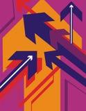Série de fond de flèche illustration libre de droits
