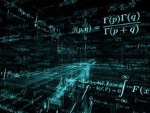 Abstraction de mathématiques Photographie stock libre de droits