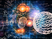 Contexte de mathématiques illustration libre de droits