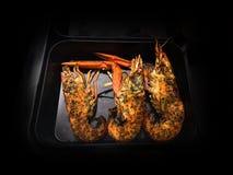 Série de fruits de mer de BBQ images libres de droits
