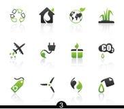 Série de graphisme d'écologie Photos stock
