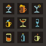 Série de graphisme de restaurant Image libre de droits