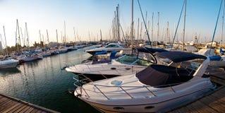 Série de imagens panorâmicos do porto com ya foto de stock
