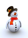 Série de l'hiver d'isolement par bonhomme de neige illustration stock