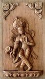 Série de madeira cinzelada mão do painel do Nepali Imagem de Stock Royalty Free