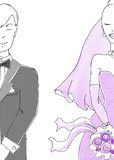 Série de mariage Image libre de droits