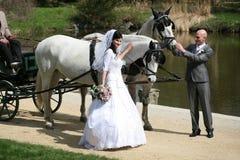 Série de mariage, chariot Photographie stock