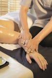 Série de massage : massage de main Image stock