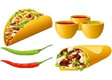 série de Mexicain de nourriture Image libre de droits