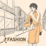Série de mode urbaine. Automne, hiver. Photos stock