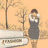 Série de mode urbaine. Automne, hiver. Photo libre de droits