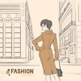Série de mode urbaine. Automne, hiver. Image stock