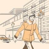 Série de mode urbaine. Automne, hiver. Photographie stock libre de droits