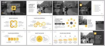 Série de moldes e de infographics da apresentação Foto de Stock