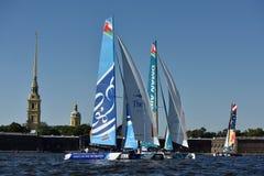 Série de navigation extrême à St Petersburg, Russie Images stock