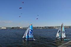 Série de navigation extrême à St Petersburg, Russie Image libre de droits