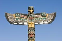 Série de pólo de Totem de Alaska Fotografia de Stock