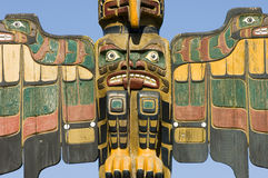 Série de pólo de Totem de Alaska Fotografia de Stock Royalty Free