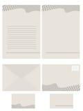 Série de papeterie de papier pour de Photo libre de droits
