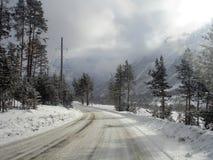 Série de paysage de l'hiver Images libres de droits