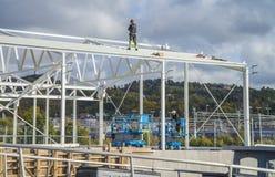 (10) série de photo, artisans attendant le shee de toiture de robertson Image libre de droits