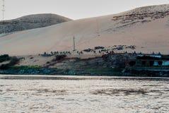 Série de photos des monuments célèbres et d'endroits de l'Egypte Photo libre de droits