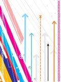 Série de pointe de fond de vecteur avec le détail de flèche Image libre de droits