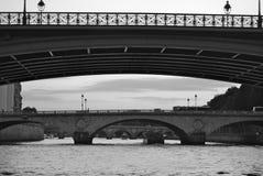 Série de pontes sobre o rio Seine Fotografia de Stock