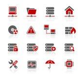 Série de // Redico de réseau et de serveur Images libres de droits