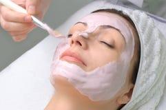 Série de salon de beauté, masque facial images libres de droits