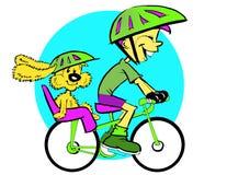 Série de sport - garçon et cycle Images libres de droits