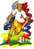 Série de sport : Joueur de football/football Photographie stock