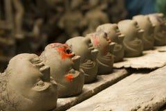 Série de têtes d'argile Photos stock