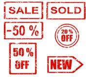 Série de tampon en caoutchouc - ventes illustration stock